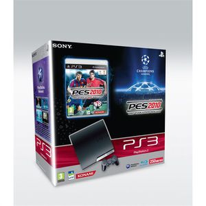 CONSOLE PS3 Pack console Sony PS3 Slim 250 Go + PES 2010