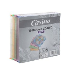 CASINO Boitiers CD-DVD x 10