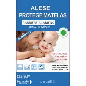 PROTÈGE MATELAS  Alése  (90X190)  protège-matelas Imperméable  Anti