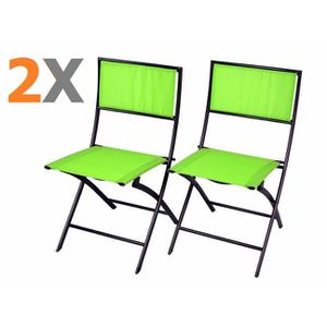 chaise jardin pliante metal vert achat vente chaise jardin pliante metal vert pas cher. Black Bedroom Furniture Sets. Home Design Ideas