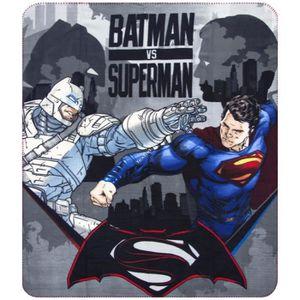 WA16030 Couverture polaire douce et chaude BATMAN VS SUPERMAN 100x150cm plaid