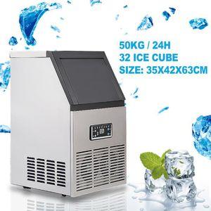 MACHINE À GLACONS Machine à glaçon Acier inoxydable Commercial 110Lb