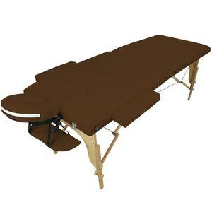 Table de massage Table de massage pliante 3 zones en bois avec pann