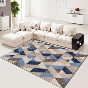 TAPIS 1 Pc Tapis de Maison Simple Moderne Géométrie Mode