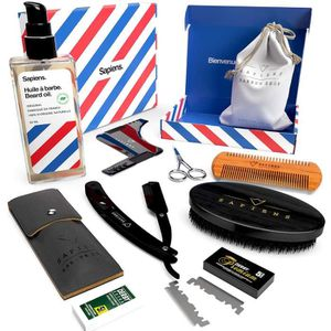 KIT RASAGE Kit Barbe & Rasage avec Huile MADE IN FRANCE. Entr
