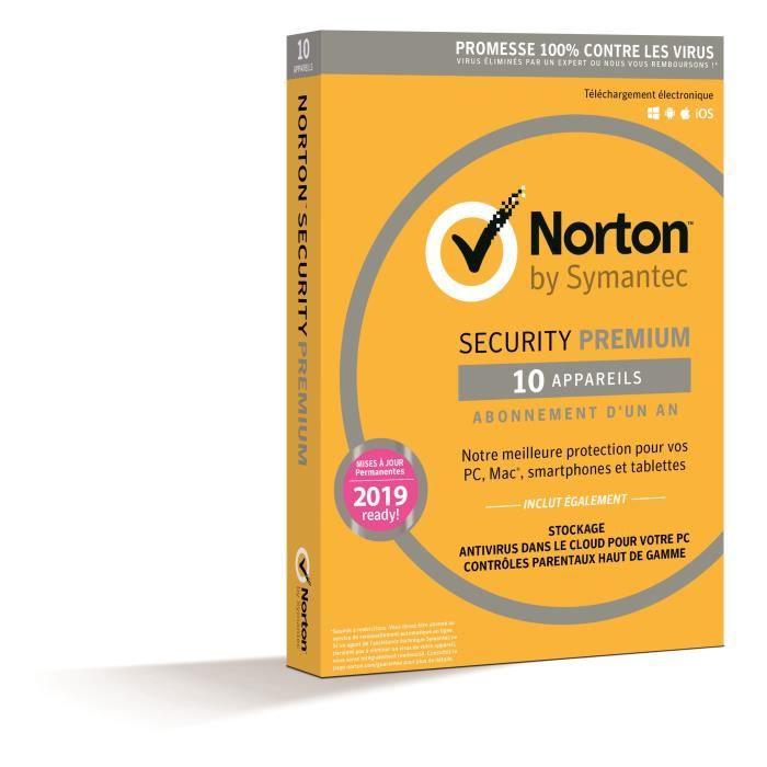 Norton Security 2018 Premium 10 Apps