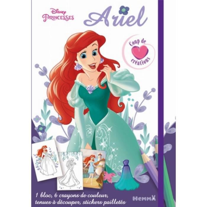 Ariel 1 Bloc 6 Crayons De Couleur Des Tenues A Decouper Des Stickers Pailletes Achat Vente Livre Parution Pas Cher Cdiscount