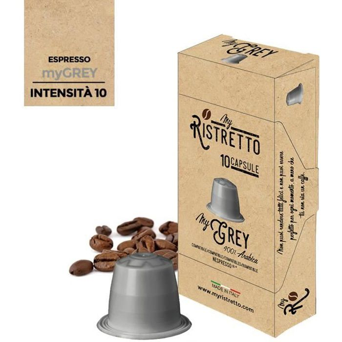 100 Capsules de café Compatibles Nespresso 100% Arabica – Café MyGrey - MyRistretto