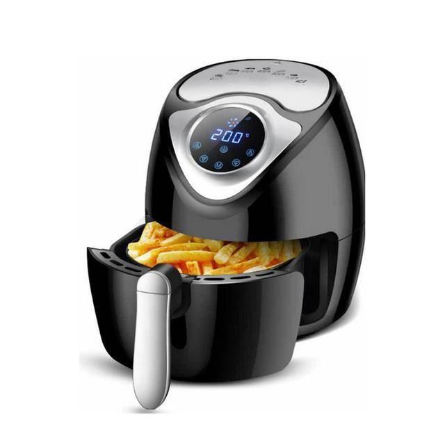 Friteuse électrique à air chaud sans huile 2,6 L noir 1300W écran digital