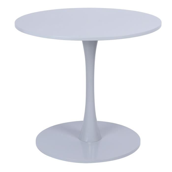 Tables à Thé Pour Salon Cuisine Jardin Terrasse Patio (Gris)