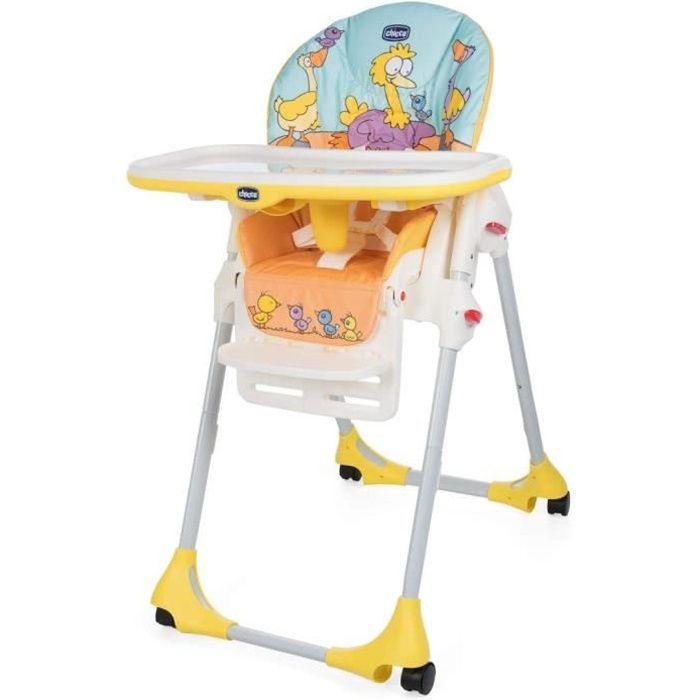 Passez la souris sur l'image pour zoomer Chicco - Chaise Haute Bébé Polly Easy - 4 Roues - Réglable, Pratique et Compacte - Birdlan