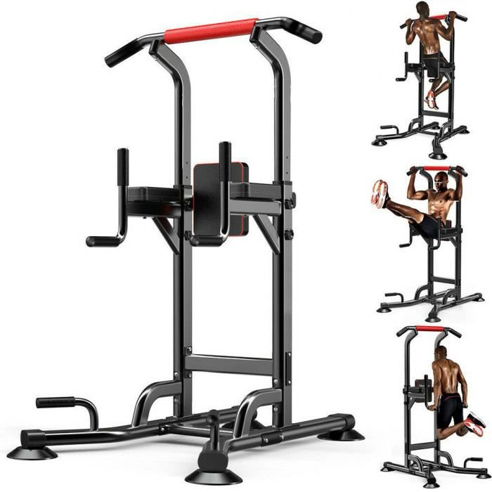 YOLEO Station de Musculation Barre de Traction Chaise Romaine Station Traction dips Multifonctions Banc de Musculation
