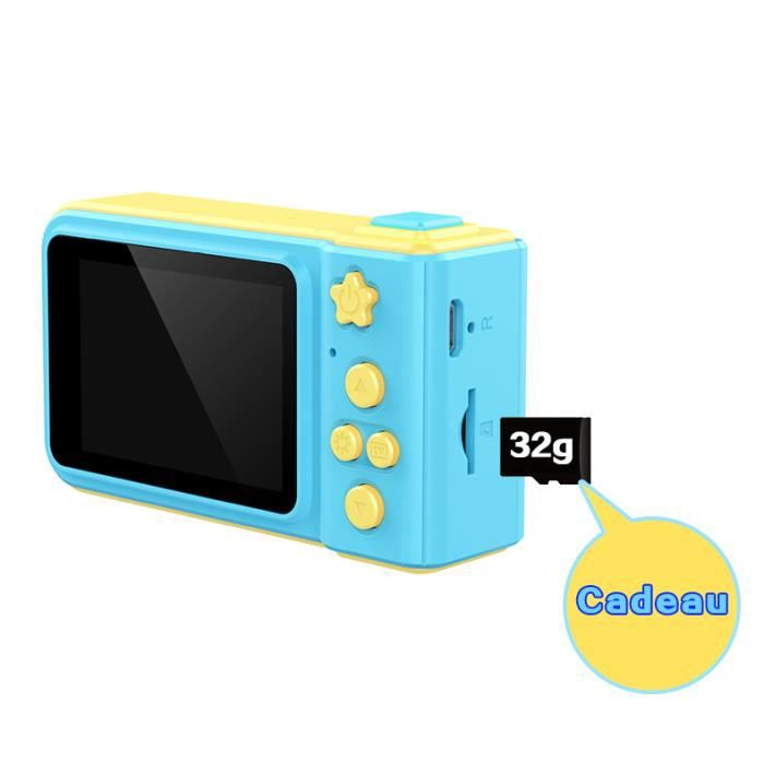 Appareil Photo Enfant Ecran HD 2 pouces Reflex Caméra Bluetooth