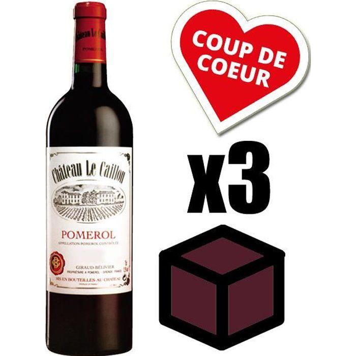 X3 Château Le Caillou 2006 Rouge 75 cl AOC Pomerol Vin Rouge