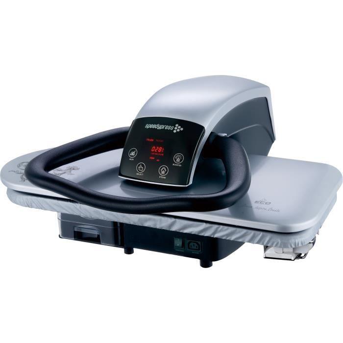 Presse à repasser à vapeur robuste de 1600 watts 71HD-S argent 68 cm de Speedypress (+ accessoire de fer, filtre et couvercle)