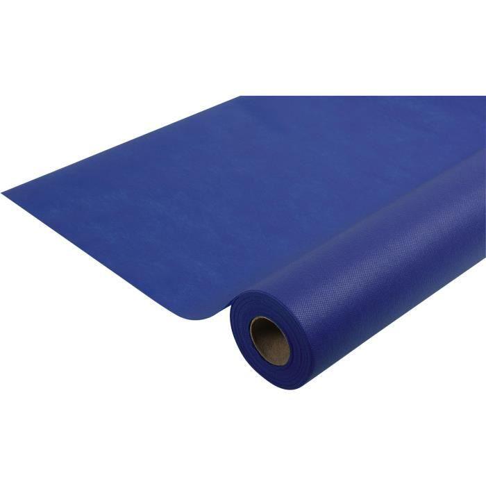 Nappe bleu marine papier épais spunbond 10m