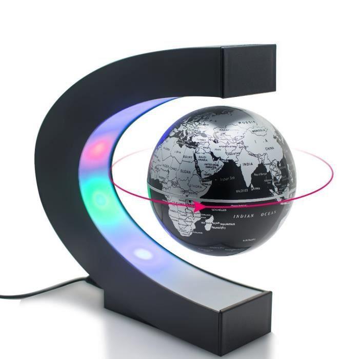 Joso Globe flottant avec lampes LED, Globe 360 °c Forme lévitation magnétique Mystérieusement suspendu en l'air carte du monde po