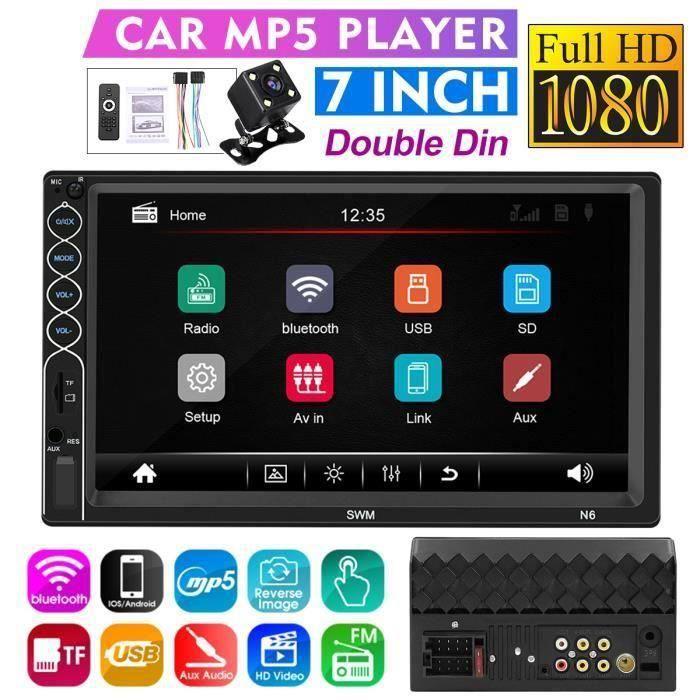 AUTORADIO 7-Pouces 2 Din Écran tactile HD Meecture de Voiture Stéréo bluetooth GPS NAV MP5 FM USB Me54298