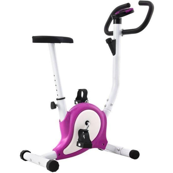 Vélo d'appartement Vélo Cardio Biking spinning d'Exercice Maison Entraînement Gym-avec résistance à courroie Violet #D#3161