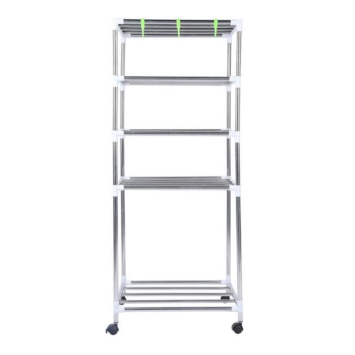 Support en acier inoxydable à cinq couches augmentant les étagères de fil d'acier de rayonnage de cuisine -QUT