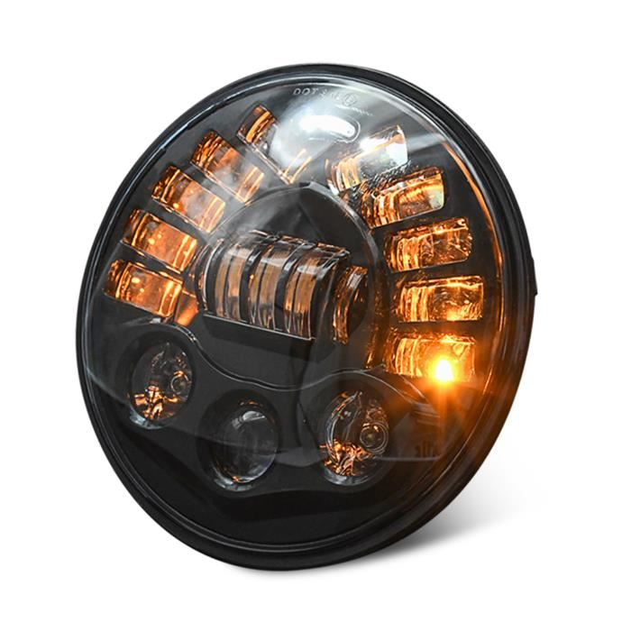 Remplacement des phares LED de 7 `` pouces 85W pour Jeep Wrangler JK TJ LJ 1997-2018, avec DRL, feux de croisement et clignotants