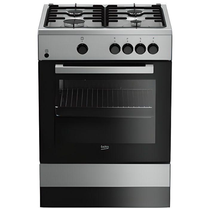 Beko FSG62000DXL, Cuisinière, Acier inoxydable, Rotatif, Devant, Cuisinière à gaz, Moyenne