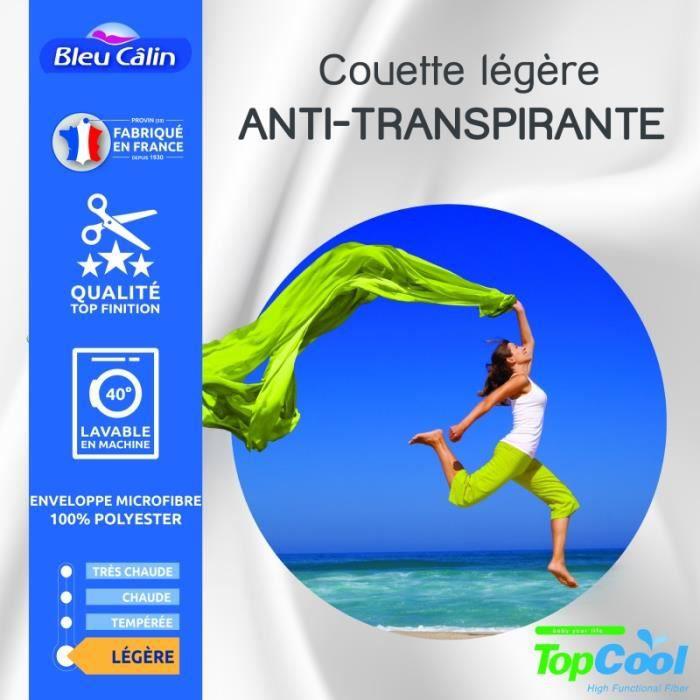 Couette anti transpirante 200 gr/m² 240 x 260 cm pour lit -King size-