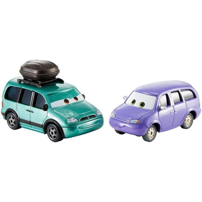 Voiture Electrique DISNEY pixar cars 3 minny et van moulé, pack de 2 Q2VIA