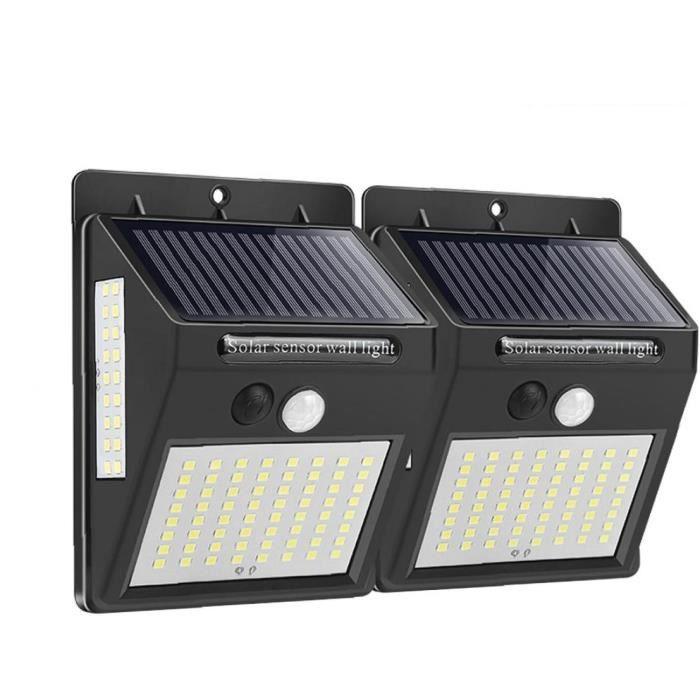 Solaire lumières d'extérieur Lampe de mur sans fil 140 Powered LED de à distance de Noël de contrôle pour le jardin Cour 2PCS