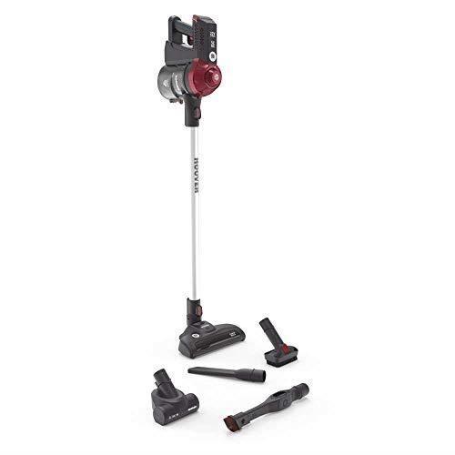 Hoover FD22RP011 Freedom - Balai électrique sans Fil, Autonomie jusqu'à 25 min, Gris-Rouge FREEDOM