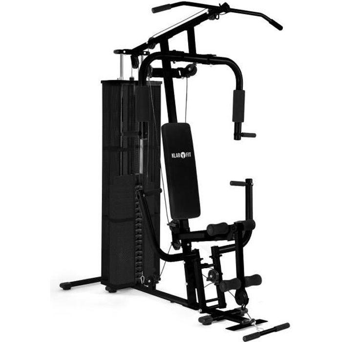 Klarfit Ultimate Gym 3000 Station de musculation multifonction : Appareil fitness & poids (+ de 30 exercices possibles) - noir