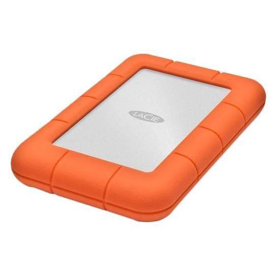 LaCie Rugged Mini, 2TB, 2000 Go, USB Type-A, 3.0 (3.1 Gen 1), 5000 Mbit-s, Alimenté par port USB, Aluminium, Orange