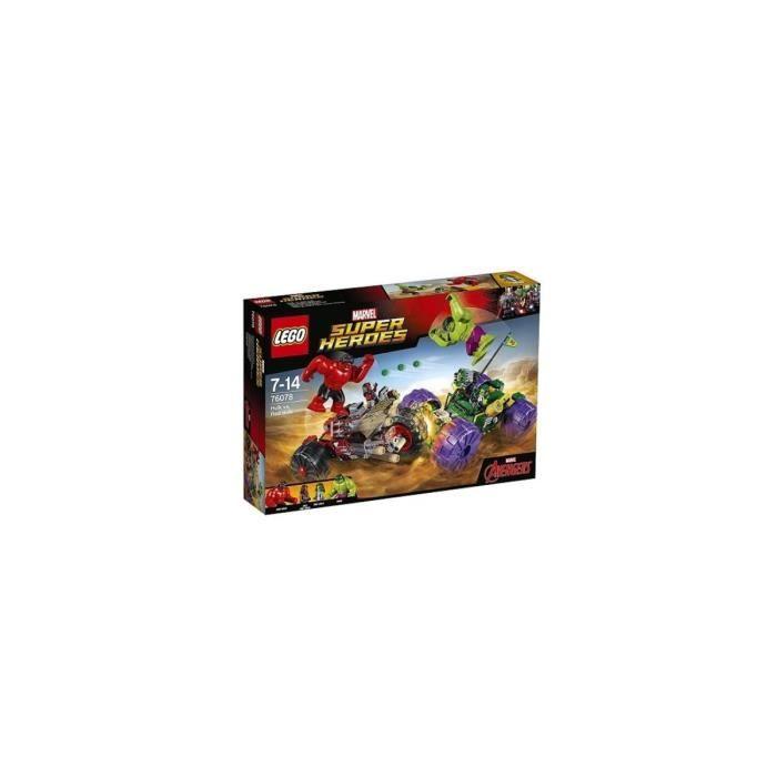 Lego - 76078 - Jeux de construction - Hulk Contre Hulk Rouge
