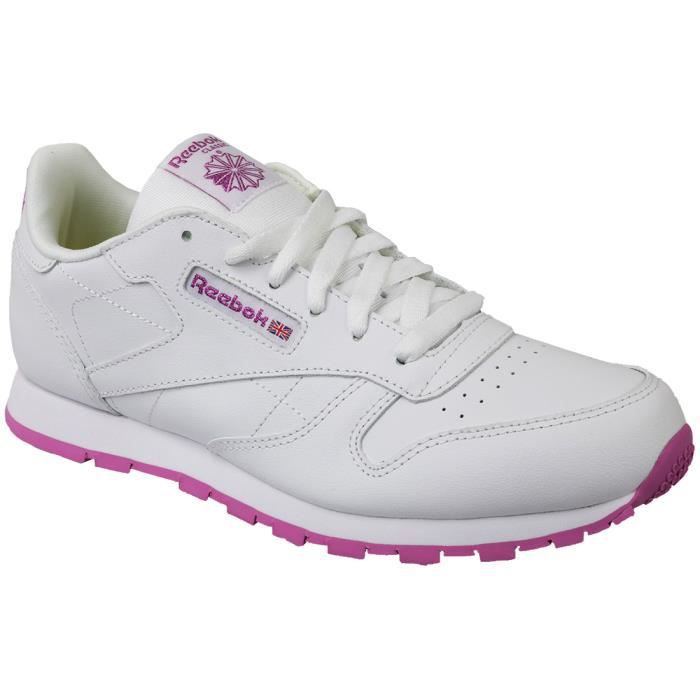 Reebok Classic Leather BS8044 Enfant mixte Baskets Blanc