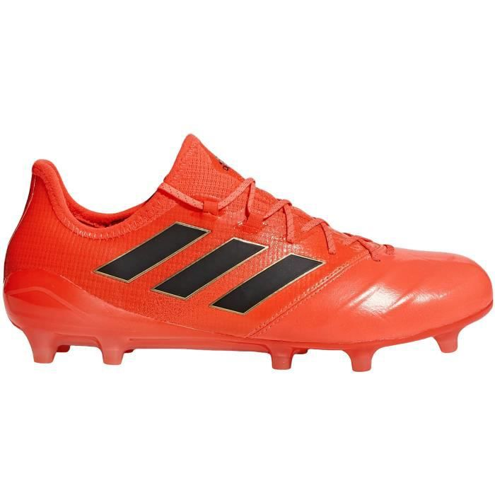 adidas ACE 17.1 FG LEATHER Homme chaussure de football lacets sport football - orange -