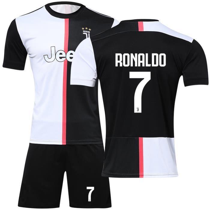 Juventus Maillot de Foot Short Football Soccer Nouveau NO.7 Cristiano Ronaldo 2019 2020 Pas Cher pour Adulte Homme