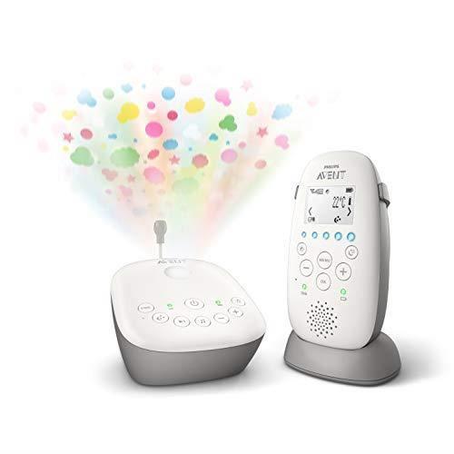 Philips AVENT SCD733-00 Babyphone DECT - Mode Smart ECO, Ecran LCD, Socle de charge, Alerte vibration et pleure, Mod SCD733-2