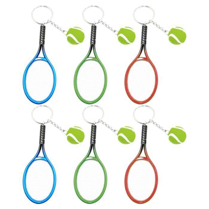 6 pièces porte-clés style tennis décors clés sac pendentifs en PORTE-CLES - ETUI A CLE