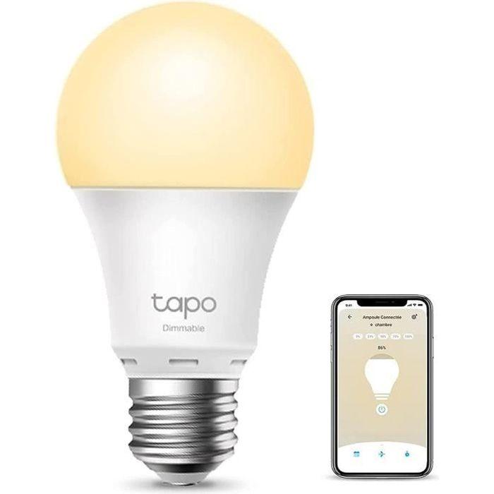 TP-Link Tapo Ampoule Connectée Wifi, Ampoule LED E27 Blanc Chaud, compatible avec Alexa, Google Home et Siri Tapo L510E