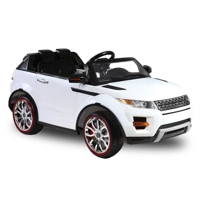 voiture lectrique pour enfant 4x4 range rover blanc achat vente voitur. Black Bedroom Furniture Sets. Home Design Ideas