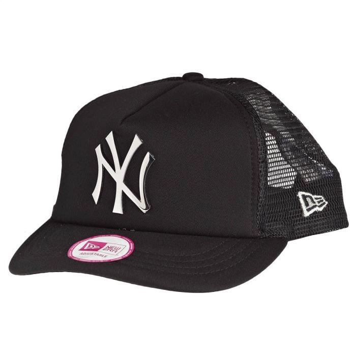 new era femme trucker cap argent metal new york noir achat vente casquette 0888495121468. Black Bedroom Furniture Sets. Home Design Ideas