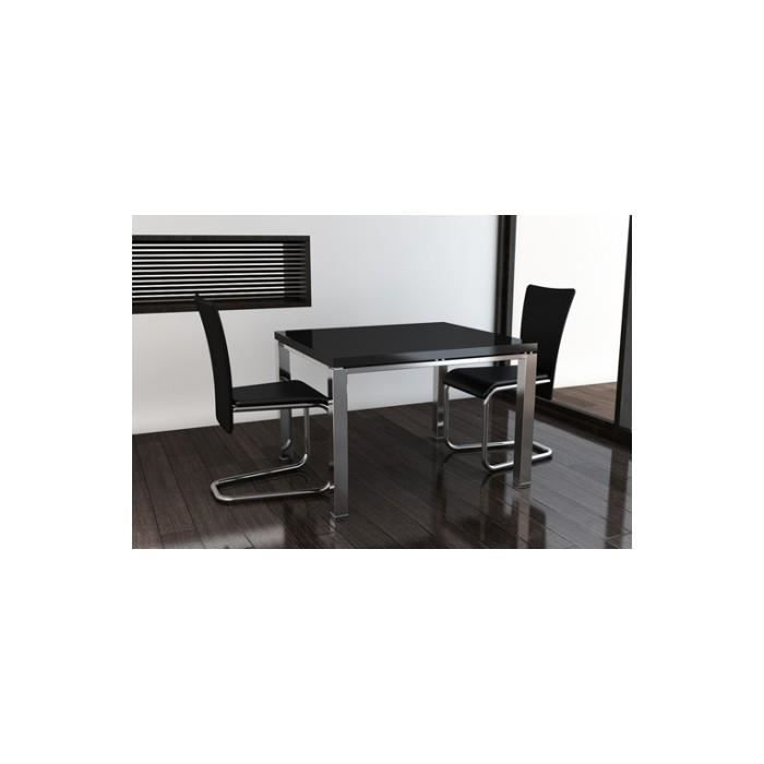 2 chaises contemporaines de salle manger noires achat vente chaise noir cdiscount. Black Bedroom Furniture Sets. Home Design Ideas