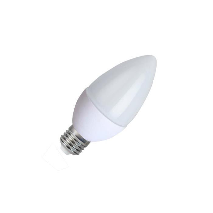 AMPOULE - LED Ampoule LED E27 C37 5W - température couleur:BLANC