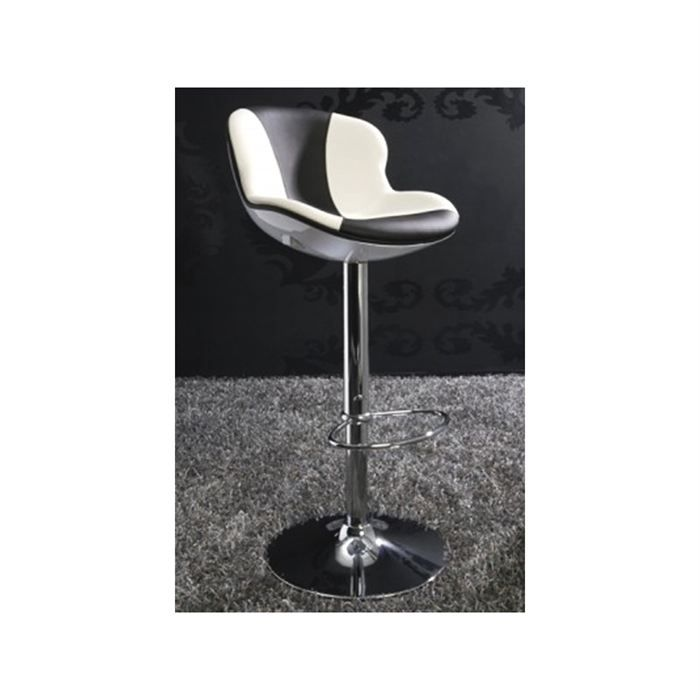 tabouret de bar ball blanc noir achat vente tabouret cuir abs acier chrom cdiscount. Black Bedroom Furniture Sets. Home Design Ideas