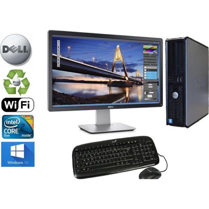 UNITÉ CENTRALE + ÉCRAN Unité Centrale  Dell Optiplex  780 SFF Core2Duo 2,