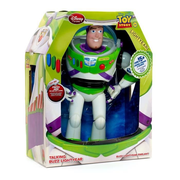 disney toy story figurine parlante buzz l 39 clair 30 cm. Black Bedroom Furniture Sets. Home Design Ideas