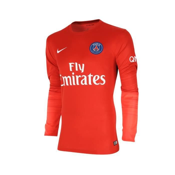 maillot gardien psg 2015 2016 rouge multicouleur achat vente maillot polo de sport cdiscount. Black Bedroom Furniture Sets. Home Design Ideas