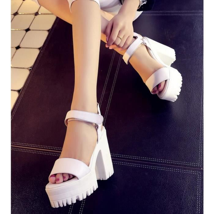 Pure Color Peep toe High Heel Sandal