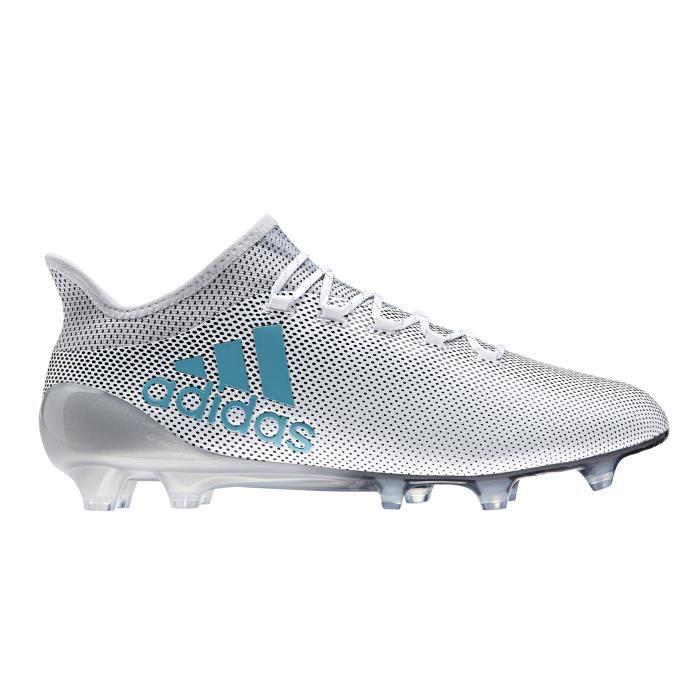 Chaussures football adidas X 17.1 FG Blanc Prix pas cher