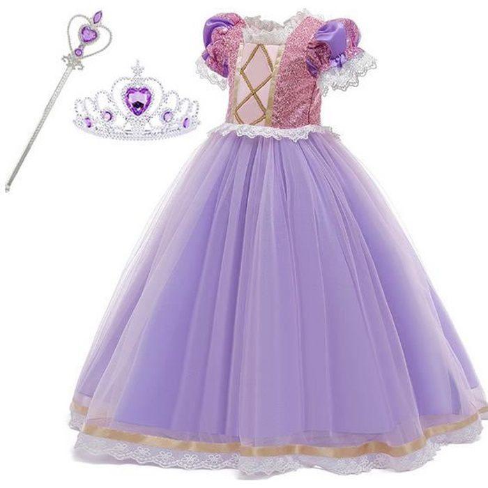 Deguisement Robe De Mariee Raiponce Pour Enfants Achat Vente Deguisement Panoplie Cdiscount